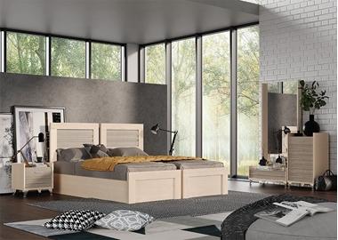 חדר שינה זוגי בהפרדה יהודית דגם רוזלי