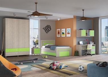 ריהוט לחדרי ילדים: חדר נוער מלא דגם ניק