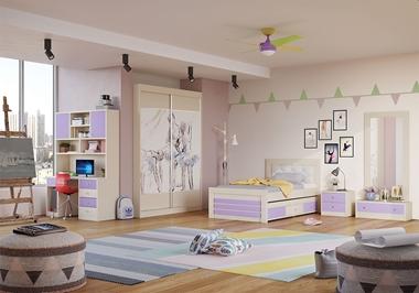 ריהוט לחדרי ילדים: חדר נוער מלא דגם טריסה