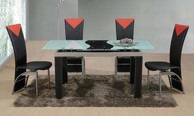 פינות אוכל: שולחן פינת אוכל זכוכית נפתח דגם ואן