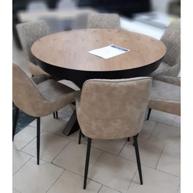 פינות אוכל:שולחן נפתח דגם מנהטן + 6 כיסאות