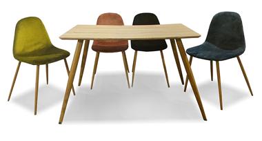 שולחן פינת אוכל מעולה + ארבעה כסאות תואמים במבצע פייסבוק