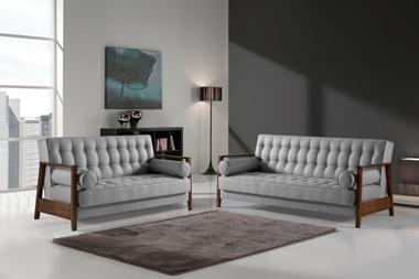 ספות ומערכות ישיבה:  סלון 2 + 3 דגם ארנה נפתח למיטה