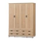 תמונה של ארונות בגדים: ארון 4 דלתות ו- 4 מגירות רחבות דגם מיכאל