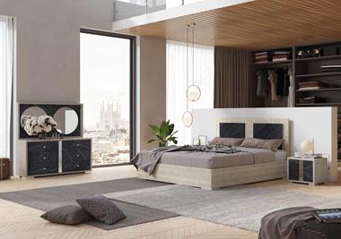 חדרי שינה: חדר שינה זוגי דגם מילנו