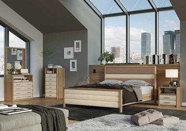 חדרי שינה: חדר שינה זוגי דגם תל אביב