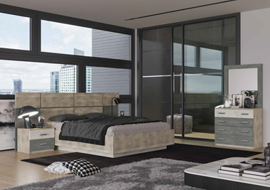 חדרי שינה: חדר שינה זוגי דגם שיקגו