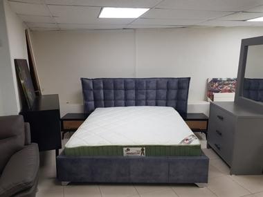 מיטה זוגית מרופדת מקסימה דגם בנימינה